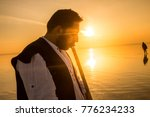 sunset and photo shoot in salt... | Shutterstock . vector #776234233