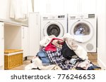 lots of dirty clothes | Shutterstock . vector #776246653