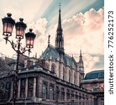 sainte chapelle and viewed from ... | Shutterstock . vector #776252173