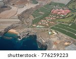 Small photo of Tenerife, Canary islands - December 11, 2017: Aerial photography of the coast of Guia de Isora with view of the Hotel Abama between banana plantations