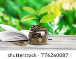 coins growth up to profit...   Shutterstock . vector #776260087