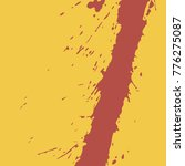 blood on a yellow background ... | Shutterstock .eps vector #776275087