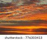 a beautiful sky and sunset | Shutterstock . vector #776303413