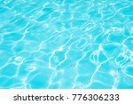 Blue And Bright Water Surface...