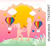 lgbt pride concept  lesbian... | Shutterstock .eps vector #776315047
