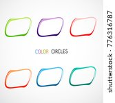 color circles  oval set | Shutterstock .eps vector #776316787