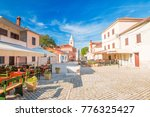 street in the historic town of... | Shutterstock . vector #776325427