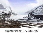 Snow Covered Columbia Icefield...