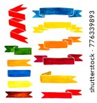 colorful watercolor ribbons... | Shutterstock . vector #776339893