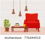 interior with an armchair... | Shutterstock .eps vector #776344513