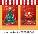 christmas toy shop window...   Shutterstock .eps vector #776390647