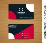 corporate business card | Shutterstock .eps vector #776392987