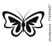 unusual butterfly icon. simple... | Shutterstock .eps vector #776394697