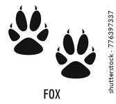 fox step icon. simple... | Shutterstock .eps vector #776397337