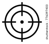 target of sportsman icon.... | Shutterstock .eps vector #776397403