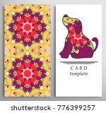 set of decorative backgrounds... | Shutterstock .eps vector #776399257