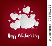 valentine scene background.... | Shutterstock .eps vector #776401333