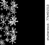 winter pattern with cute doodle ... | Shutterstock .eps vector #776401513