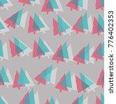 christmas pattern. vector... | Shutterstock .eps vector #776402353