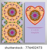 set of decorative cards with... | Shutterstock .eps vector #776402473