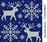reindeer and snowflakes... | Shutterstock .eps vector #776404807