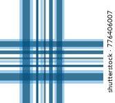 seamless gingham blue tone... | Shutterstock .eps vector #776406007