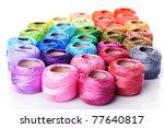 Color Thread Heap Isolated On...