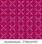 intricate yellow and blue... | Shutterstock .eps vector #776414707