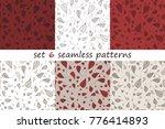 vector set of 6 seamless... | Shutterstock .eps vector #776414893