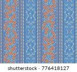 seamless vector flower  pattern ... | Shutterstock .eps vector #776418127
