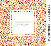 rainbow carrots text frame.... | Shutterstock .eps vector #776426683