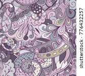 tracery seamless pattern.... | Shutterstock .eps vector #776432257