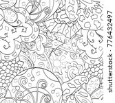 tracery seamless pattern.... | Shutterstock .eps vector #776432497