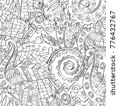 tracery seamless pattern.... | Shutterstock .eps vector #776432767