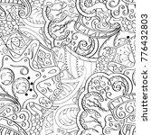 tracery seamless pattern.... | Shutterstock .eps vector #776432803