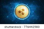 ripple symbol on futuristic hud ... | Shutterstock . vector #776442583