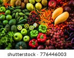 different fresh fruits and...   Shutterstock . vector #776446003