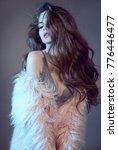 wavy hairstyle. high fashion...   Shutterstock . vector #776446477