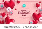 valentine's day concept... | Shutterstock .eps vector #776451907