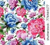 wildflower pink peony flower...   Shutterstock . vector #776464177