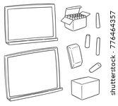 vector set of blackboard and... | Shutterstock .eps vector #776464357