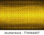 metal texture background or... | Shutterstock . vector #776466607