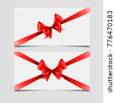 christmas gift cards with red... | Shutterstock .eps vector #776470183