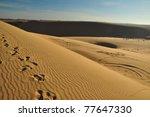 landscape of desert in vietnam | Shutterstock . vector #77647330