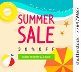 summer sale vector illustration ... | Shutterstock .eps vector #776479687