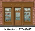 facade of bookstore  front view.... | Shutterstock .eps vector #776482447