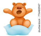 yawning teddy bear cartoon... | Shutterstock .eps vector #776483947