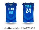 basketball jersey tank top... | Shutterstock .eps vector #776490553