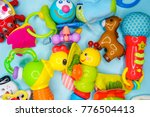 toys for baby  background | Shutterstock . vector #776504413