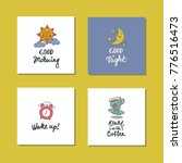 collection of the cards with... | Shutterstock .eps vector #776516473